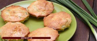 Пирожок-кекс с луком и яйцом. Готов 2