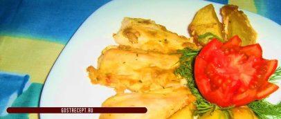 Куриное филе с картошкой в сметанно-соевым соусе 1