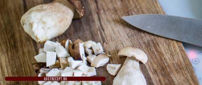 Паста с белыми грибами, чесноком и тимьяном. Грибы.